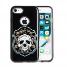 For iPhone 8 & 7 Skulls Pattern TPU + PC Relief Combination Case