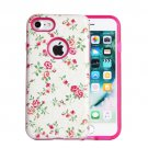 For iPhone 8 & 7 Fresh Flower Pattern TPU + PC Relief Combination Case