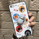 For iPhone 8 & 7 White Cat Pattern Squeeze Relief IMD Workmanship Squishy Back Cover Case