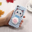 For iPhone 8 & 7 3D Blue Lovely Cat Cartoon Pattern Squeeze Relief IMD Workmanship Squishy Case
