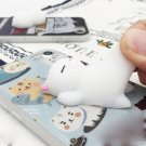 For iPhone 8 & 7 3D Light Blue Lovely Cat Pattern Squeeze Relief IMD Workmanship Squishy Case