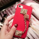 For iPhone 8 & 7 Red Back Cover Case with Tassel Pendant & Lanyard