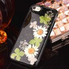 For iPhone 8 & 7 Epoxy Dripping Pressed Real Dried Flower 4 Soft TPU Case Back Cover
