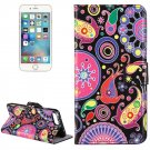 For iPhone 8+ & 7+ Acaleph Pattern Leather Case with Holder, Card Slots & Wallet
