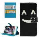 For iPhone 8+ & 7+ Smiling Face Pattern Leather Case with Holder, Card Slots & Wallet