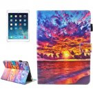 For iPad Air 2 Sunset Pattern Smart Cover Leather Case with Holder & Card Slots