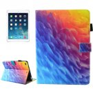 For iPad Air 2 Polygons Pattern Smart Cover Leather Case with Holder & Card Slots