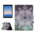 For iPad Air 2 / iPad 6 Flower Pattern Leather Case with Holder, Card Slots & Wallet