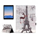 For iPad Air 2 / iPad 6 Eiffel Tower Pattern Leather Case with Holder, Card Slots & Wallet