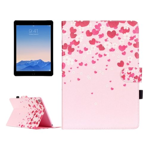 For iPad Air 2 / iPad 6 Love Pattern Leather Case with Holder, Card Slots & Wallet