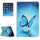 For iPad Air 2 / iPad 6 Butterfly Pattern Horizontal Flip Leather Case with Holder