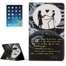 For iPad Air 2 / iPad 6 Moon couple Pattern Horizontal Flip Leather Case with Holder