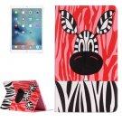 For iPad Pro 12.9 inch Zebra Pattern Horizontal Flip Leather Case with Holder