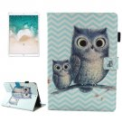 For iPad Pro 10.5 inch Wave Owl Pattern Leather Case with Holder & Card Slots & Sleep