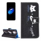 For iPhone 8+ & 7+ Cat and Fish Pattern Leather Case with Holder, Card Slots & Wallet
