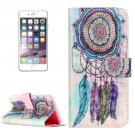 For iPhone 8+ & 7+ Embossed Dream Catcher Pattern Leather Case with Holder, Card Slots & Wallet