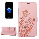 For iPhone 8+ & 7+ Pink Voltage Crazy Horse Leather Case with Wallet, Card Slots & Lanyard