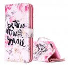 For iPhone 8+ & 7+ Be true Pattern Leather Case with Wallet, Card Slots & Photo Frame
