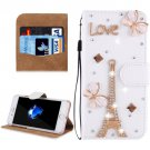 For iPhone 8+ & 7+ Fevelove Diamond Tower Magnetic Leather Case with Holder, Card Slots