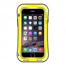 For iPhone 7+ Yellow Waistline Triobump LOVE MEI Dust proof Shockproof Anti-slip Metal Case
