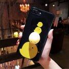 For iPhone 8+ & 7+ Black Chicken Pattern Squeeze Relief IMD Workmanship Squishy Case