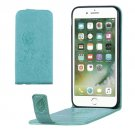 For iPhone 8 & 7 Green Flowers Pattern Vertical Flip Leather Case with Card Slot & Lanyard
