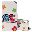 For iPhone X Lovers Owl Pattern Horizontal Flip Leather Case with Holder, Card Slots & Wallet