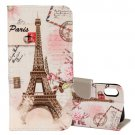 For iPhone X Eiffel Tower Pattern Horizontal Flip Leather Case with Holder, Card Slots & Wallet