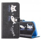 For iPhone X Cat and Fish Pattern Horizontal Flip Leather Case with Holder, Card Slots & Wallet