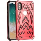 For iPhone X PC + TPU Protective Back Cover Combination Case - Red