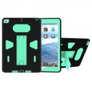 For iPad 9.7 inch 2017 Green PC+Silicone Shockproof Protective Back Cover Case With Holder