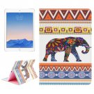 For iPad Air 2/iPad 6 Elephant Pattern Leather Case with Holder, Card Slots & Wallet