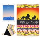For iPad Air 2/iPad 6 HAKUNA Pattern Leather Case with Holder, Card Slots & Wallet