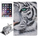 For iPad Air 2/iPad 6 Tiger Pattern Leather Case with Holder, Card Slots & Wallet