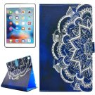 For iPad Pro 10.5 inch Half Flower Pattern Flip Leather Case with Holder, Card Slots & Wallet
