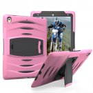 For iPad Pro 10.5 inch Pink Wave Texture Series PC + Silicone Protective Case with Holder