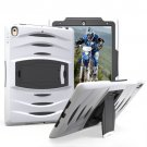 For iPad Pro 10.5 inch White Wave Texture Series PC + Silicone Protective Case with Holder