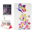 For iPad mini 4 Painting Colorful Pattern TPU + PU Horizontal Flip Leather Case with Holder