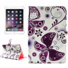 For iPad mini 4 Painting Love Pattern TPU + PU Horizontal Flip Leather Case with Holder