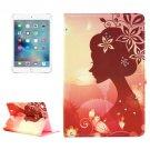 For iPad mini 4 Girl 4 Pattern Diamond Encrusted Horizontal Flip Leather Case with Holder
