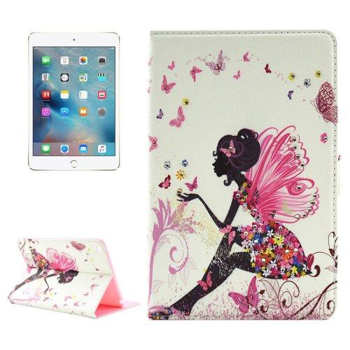 For iPad mini 4 Girl 6 Pattern Diamond Encrusted Horizontal Flip Leather Case with Holder