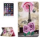 For iPad mini 4 Rose Tower Pattern Horizontal Flip Leather Case with Holder