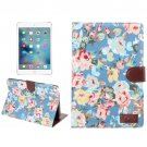 For iPad mini 4 Peony Pattern 2 Denim Smart Cover Leather Case with Holder, Wallet, Card slots