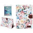 For iPad mini 4 Peony Pattern 3 Denim Smart Cover Leather Case with Holder, Wallet, Card slots