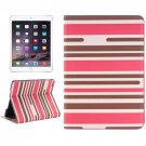For iPad mini 4 Overdye Stripe 1 Flip Smart Leather Case with Holder, Card Slots & Wallet