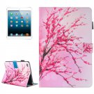 For iPad mini 4/3/2/1 Blossom Pattern Flip Leather Case with Holder, Card/Pen Slots & Wallet