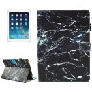 For iPad mini 4/3/2/1 Black Marble Pattern Smart Cover Leather Case with Holder & Card Slots