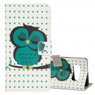 For Galaxy Note 8 Dot and Owl Pattern Flip Leather Case with Holder, Card Slots & Wallet