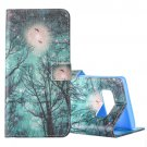 For Galaxy Note 8 Sky and Trees Pattern Flip Leather Case with Holder, Card Slots & Wallet