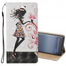 For Galaxy Note 8 3D Relief Fairy Flip Leather Case with Holder, Card Slots & Lanyard